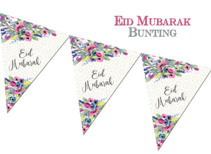 "FEB 04 - Eid Mubarak Bunting - ""Watercolour"" - Islamic Moments"