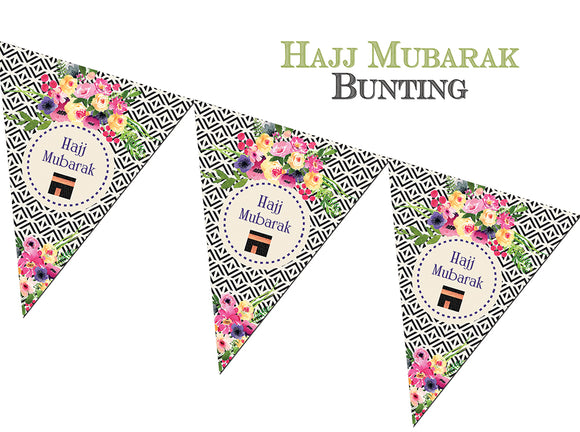 FHB 04 - Hajj Mubarak Bunting - Geo - Islamic Moments