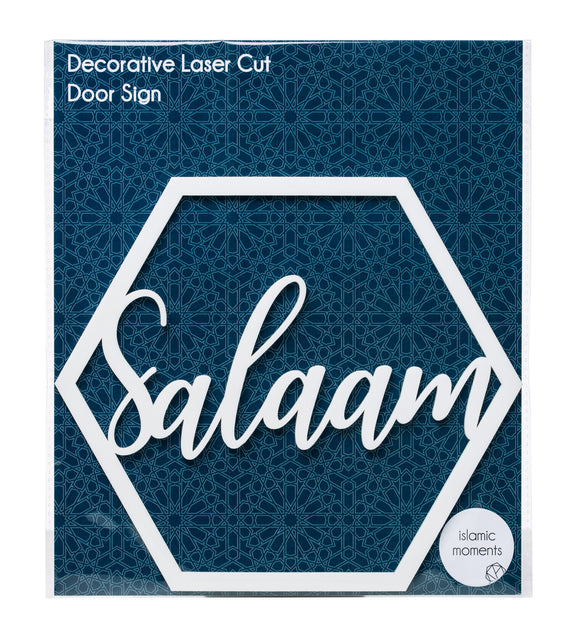 LCA 03  - Salaam Laser Cut Hanging Door Sign