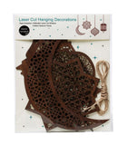 LCW 01 - Large Laser Cut Hanging Ornaments - 4 Pack