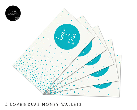 Money Wallets - Love & Du'as - Pack of 5