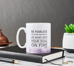 "Ceramic Mug with Rummi Quote  ""Be fearless ..."" - MGR 02"