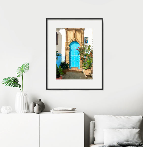 Moroccan Door in Blue - Home Decor