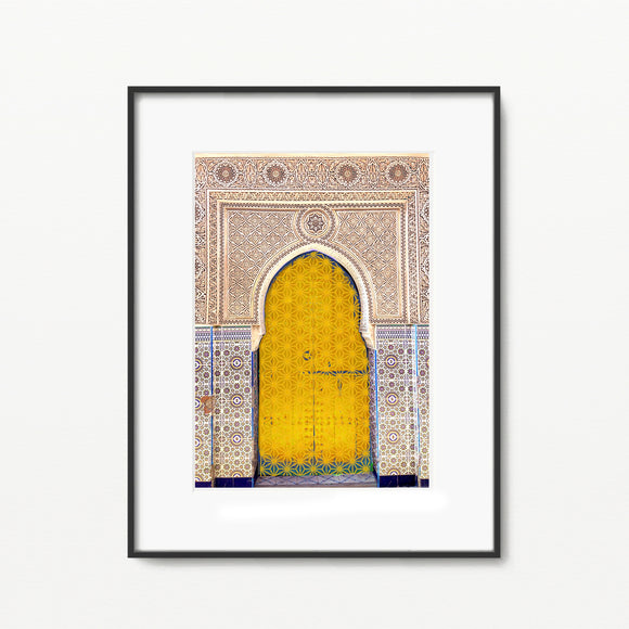 Moroccan Darbar in Yellow - Home Decor - Islamic Moments