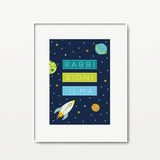 Boys Room Set: 2 x A4 Prints - Blue - Home Decor