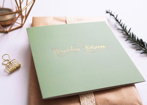 RC 01 - Ramadan Kareem - Rose & Co - Gold Foiled - Sage - Islamic Moments