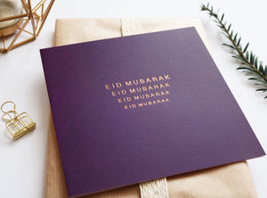 RC 05 - Eid Mubarak - Rose & Co - Gold Foiled - Purple - Islamic Moments