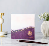 Eid Mubarak Gold Foiled Greeting Card in Plum Ombré - RC 12
