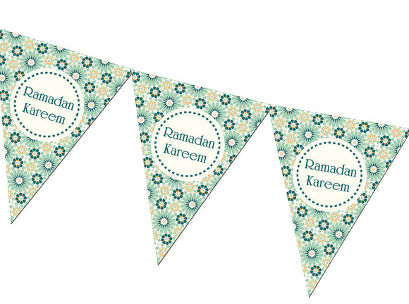 FRB 03 - Ramadan Kareem Bunting - Green - Islamic Moments