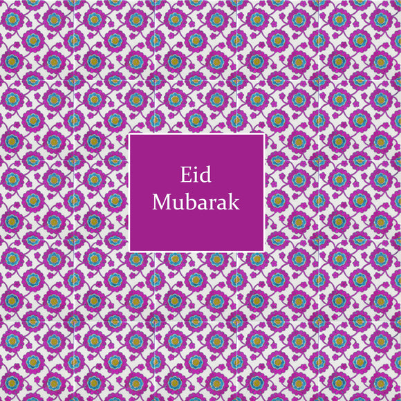 TK 01 - Eid Mubarak - Topkapi - Magenta - Islamic Moments