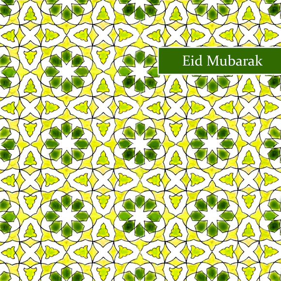 TK 03 - Eid Mubarak - Topkapi - Green Tile - Islamic Moments