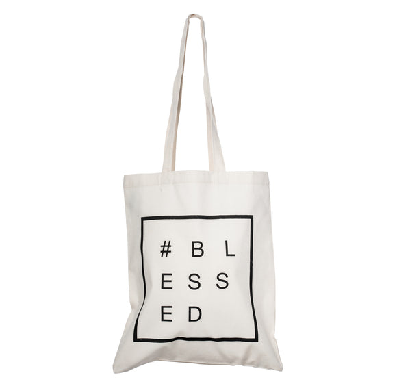 Cotton Tote Bag - #BLESSED - CB 02