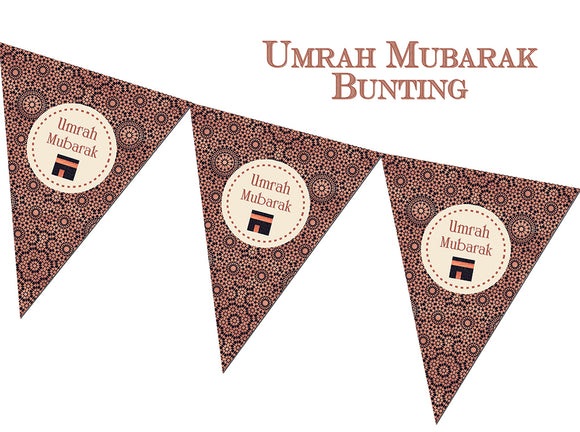 FUB 03 - Umrah Mubarak Bunting - Copper - Islamic Moments
