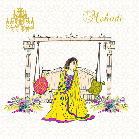 WC 01 - Mehndi Card - Islamic Moments