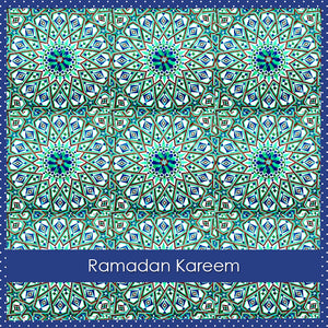 WL 01 - Ramadan Kareem - Wisal - Blue Green - Islamic Moments