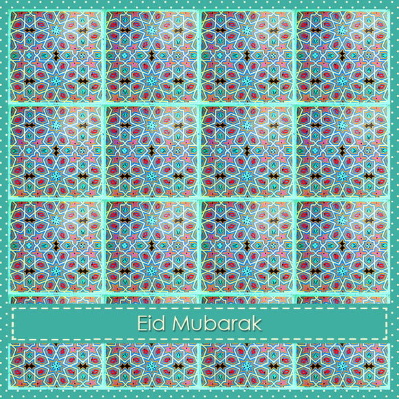 WL 03 - Eid Mubarak - Wisal - Aqua - Islamic Moments