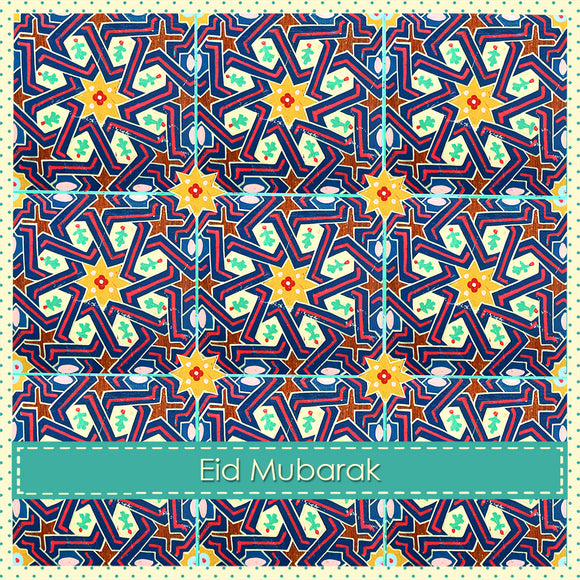 WL 04 - Eid Mubarak - Wisal - Blue & Yellow - Islamic Moments