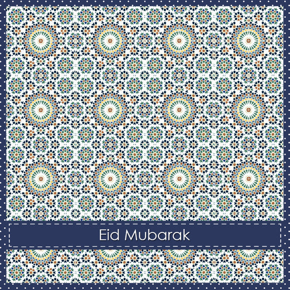 WL 06 - Eid Mubarak - Wisal - Stone & Navy - Islamic Moments