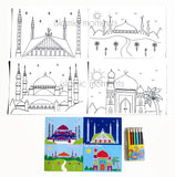 CMM 01 - Colour my mosque set - Islamic Moments