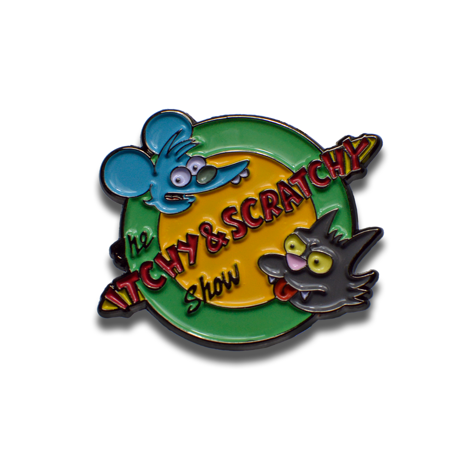 Itchy & Scratchy Show Simpsons Pin