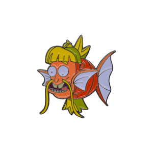 Doofus Karp Mashup Rick & Morty - Pokemon Portalmon Enamel Pin