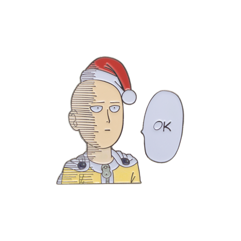 Saitama Wishes You An OK Christmas - One Punch Man - Duo Pin Set