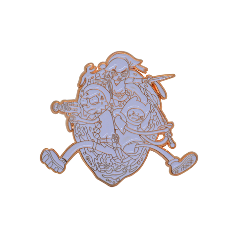 Link, Morty and Finn! Zelda | Adventure Time | Rick & Morty LTD Rose Gold Enamel Pin