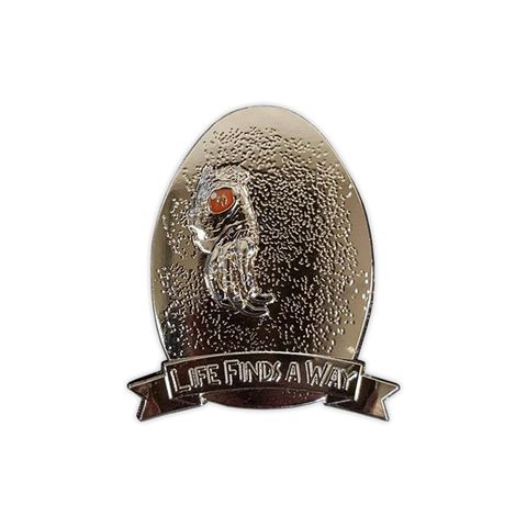 """Life Finds A Way"" Indominus Rex Egg Jurassic Enamel Pin"