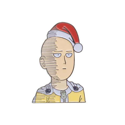 Saitama Wishes You An OK Christmas - One Punch Man - Enamel Pin