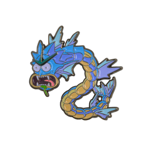 Blue Rickados Mashup Rick & Morty - Pokemon Portalmon Enamel Pin