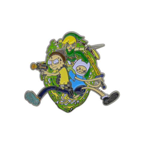 Link, Morty and Finn! Zelda | Adventure Time | Rick & Morty LTD Enamel Pin