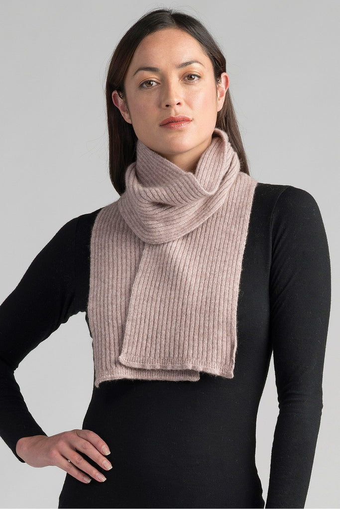 Merino Possum Ribbed Scarf