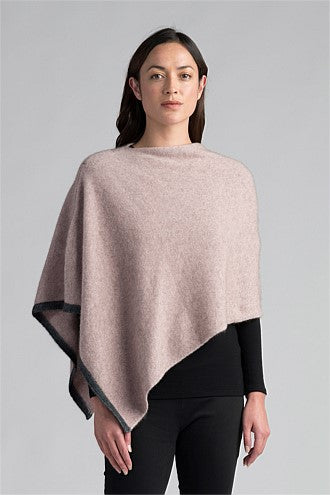 Merino Possum Two Tone Poncho