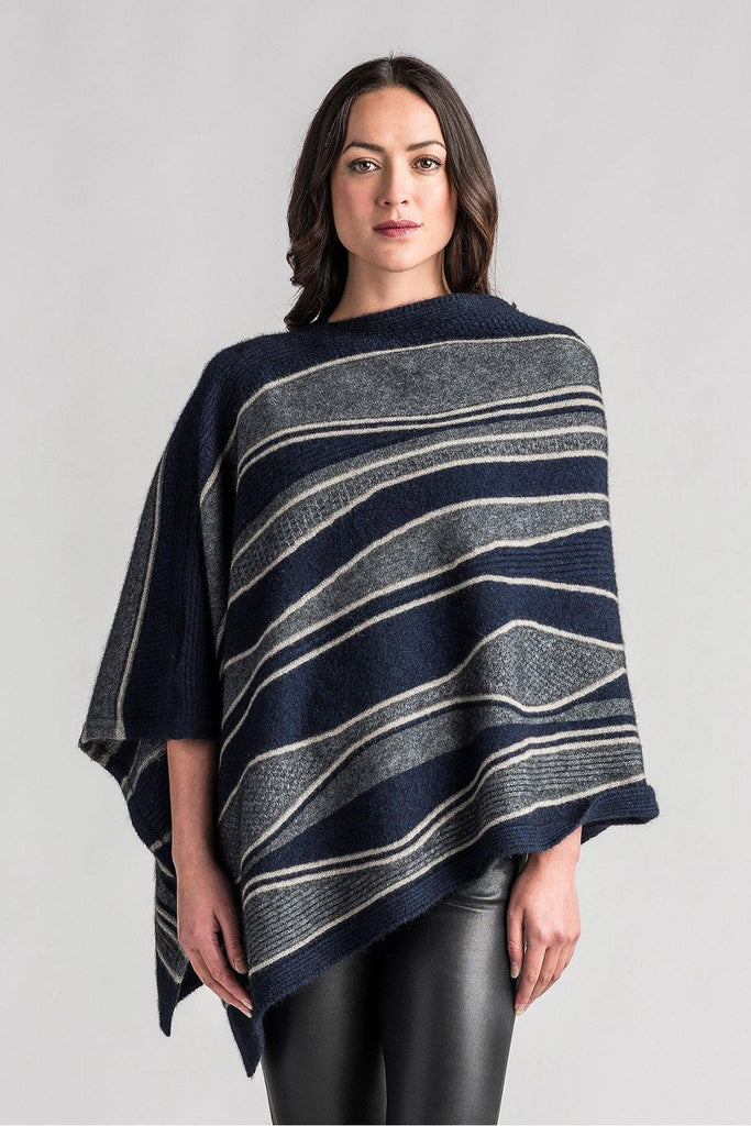 River Possum Stripe Poncho
