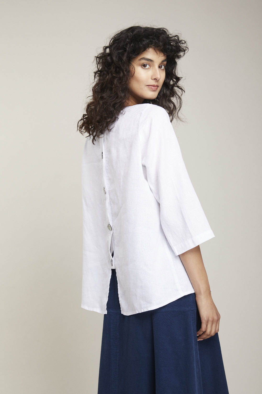 Linen Button Shirt by Valia