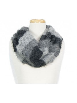 Infinite Suri Alpaca Loop Scarf Grey/Black