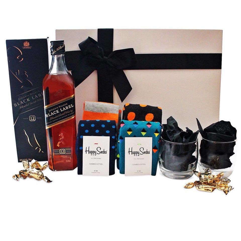 SCOTCH & SOCKS HAMPER - blac-label-boxes