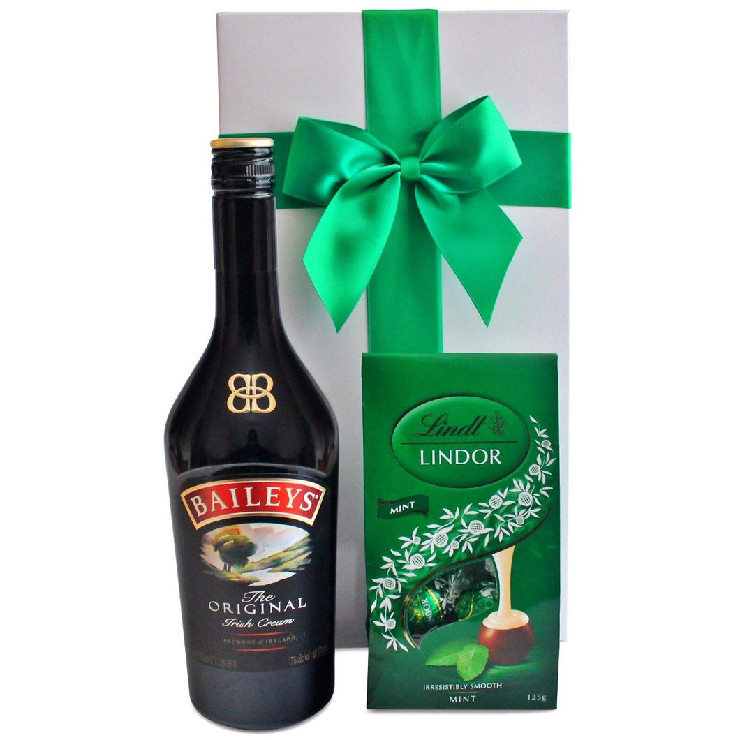 BAILEYS AND CHOCOLATES HAMPER - blac-label-boxes