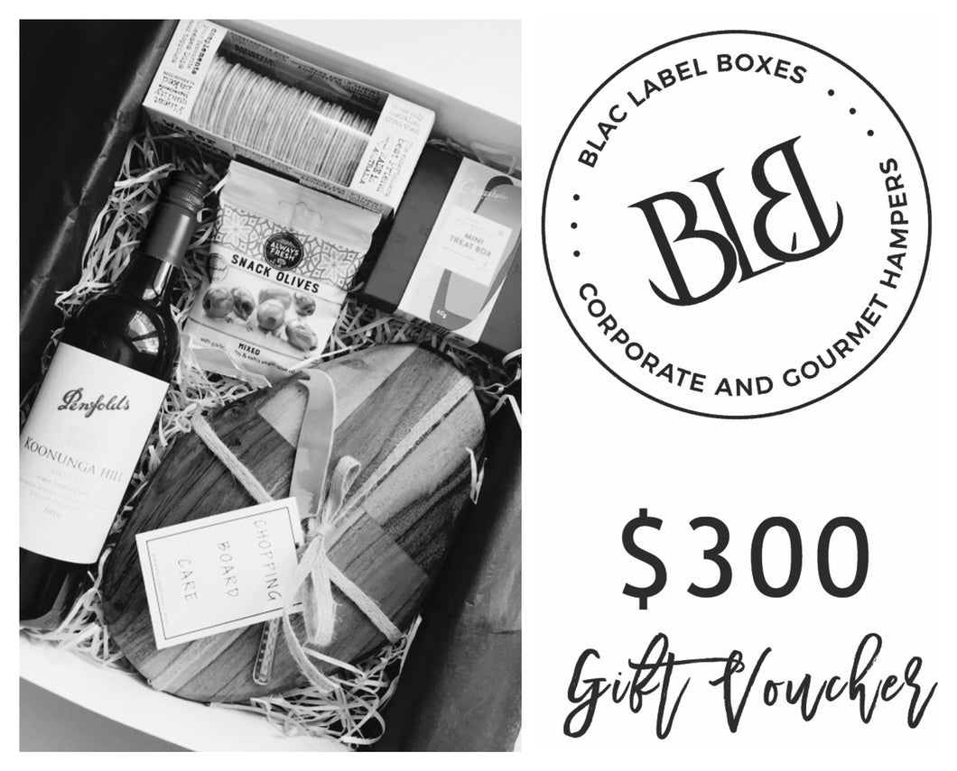 $300 GIFT VOUCHER - blac-label-boxes