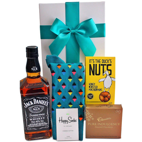 THE JACK, SOCKS, CHOCS AND NUTS HAMPER - blac-label-boxes