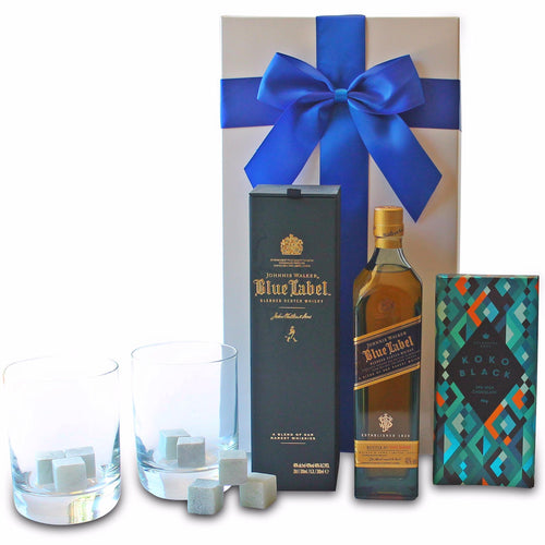 JOHNNIE WALKER BLUE HAMPER - blac-label-boxes