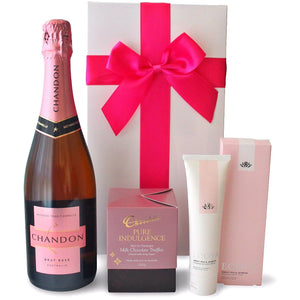 PINK HAND INDULGENCE HAMPER - blac-label-boxes