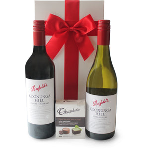 THE PENFOLDS RED & WHITE HAMPER - blac-label-boxes