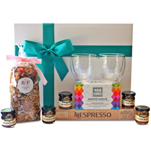 BREAKFAST FOR TWO GOURMET HAMPER - blac-label-boxes