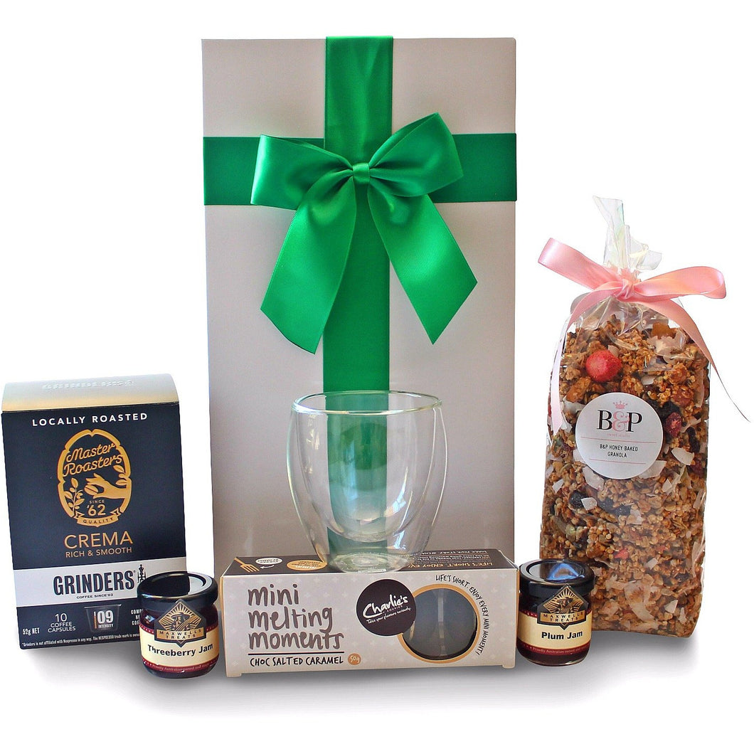 BREAKFAST FOR ONE COFFEE GOURMET HAMPER - blac-label-boxes