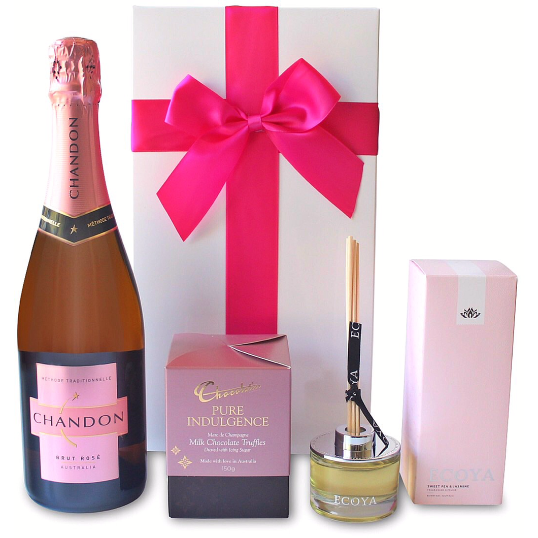PINK SWEET INDULGENCE HAMPER - blac-label-boxes