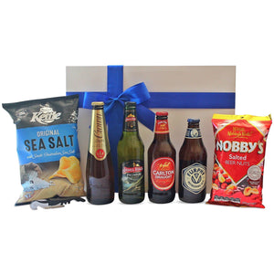 AUSSIE BEER GOURMET HAMPER - blac-label-boxes