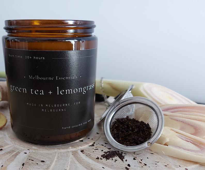 GREEN TEA AND LEMONGRASS SOY CANDLE