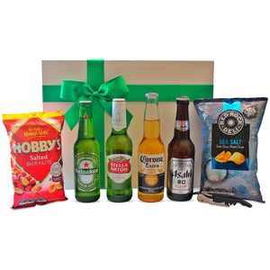 INTERNATIONAL BEER GOURMET HAMPER - blac-label-boxes