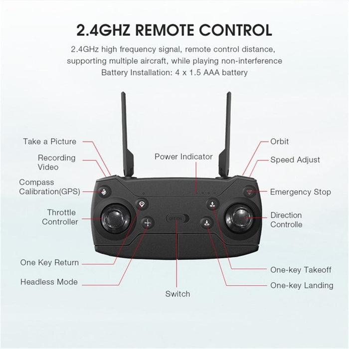 Eachine 4k/1080P HD Drone WIFI Wide Angle Camera-LuxylGroup, Inc.